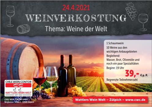 Weinverkostung April 2021